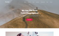 Free One-page Agency Website Template