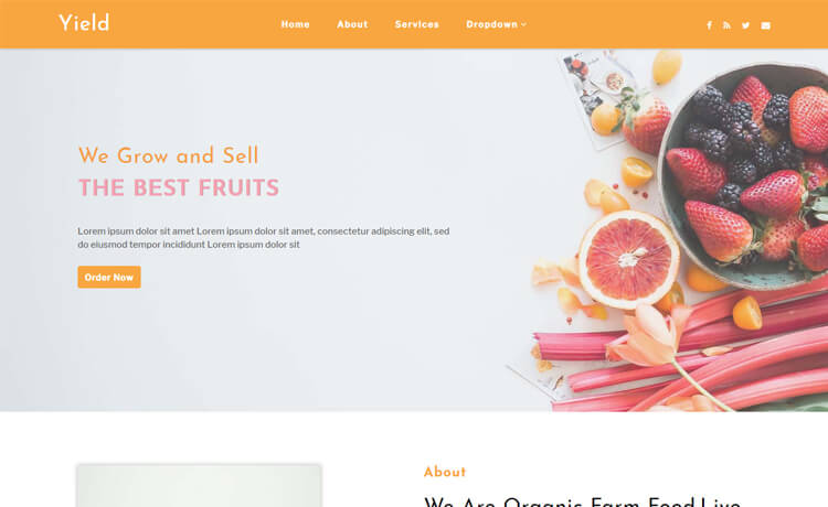 Free HTML5 Bootstrap 4 Agricultural Website Template