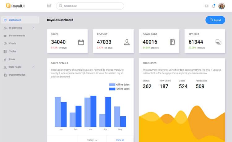 RoyalUI Admin-Free Bootstrap 4 HTML5 Admin Dashboard Template