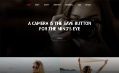 Free Bootstrap 4 HTML Portfolio Website Template