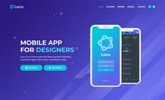 Free Bootstrap 4 HTML5 Mobile App Landing Page Template