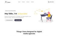 Free Bootstrap 4 HTML5 Personal Portfolio Website Template