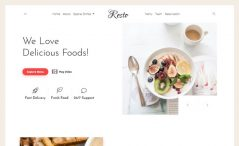 Free Bootstrap 4 HTML5 Restausrant Website Template