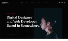 Free HTML5 CSS3 Personal Portfolio Website Template