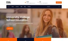 free responsive HTML5 Bootstrap 4 education website template