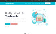 free responsive dental medical website template