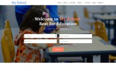 free responsive education website template