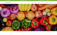free responsive fruits and vegetable e-commerce website template