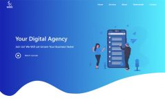 Free HTML5 Bootstrap 4 Digital Agency Website Template
