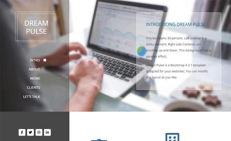 Dream Pulse-Free Bootstrap 4 HTML5 One-page Portfolio